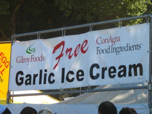 I can see why the garlic ice cream would be free at Gilroy, California's, annual Garlic Festival.  Would YOU pay for a scoop? (besighyawn, Flickr Creative Commons)