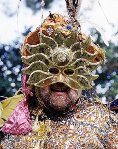 "Who is that masked, or as New Orleanians prefer it, ""masqued,"" krewe captain? (Carol M. Highsmith)"