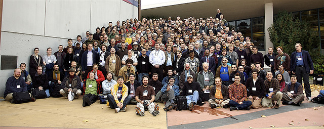 This is a pretty representative workforce group photo. (MrTopf, Flickr Creative Commons)