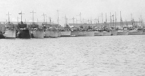 My guess is that every one of these decommissioned destroyers, shown in 1919, is now a fish habitat or a museum, if there's anything left of them at all.  (U.S. Naval History Center)