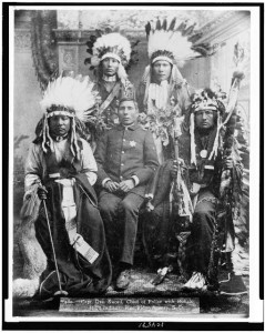 These Indians were photographed at the Pine Ridge Agency, or reservation, in South Dakota.  (Library of Congress)