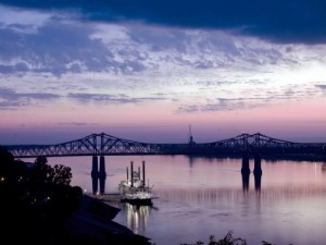 Another Highsmith beauty: a steamboat at the dock in Natchez, Mississippi.  (Carol M. Highsmith)
