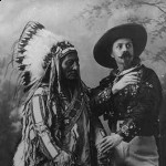 "A tamed Sitting Bull and ""Buffalo Bill"" Cody.  (Library of Congress)"