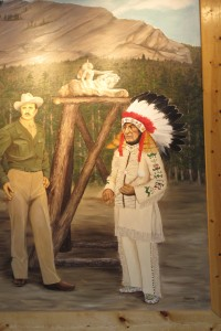 This ill-lilt painting of Korczak and Standing Bear hangs in the visitor center.  (Carol M. Highsmith)