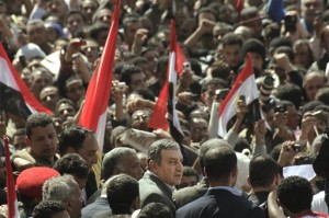 Tahir Square in Cairo was the center of the action of both the rebellious and communication kinds.  (AP Photo/Amr Nabil)