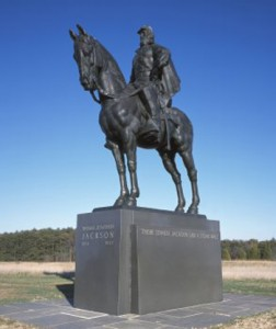 Stonewall Jackson's sly and unyielding maneuvers at Bull Run were noteworthy enough to merit this equestrian statue on the battlefield grounds.  (Carol M. Highsmith)
