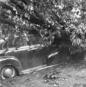 This photo was snapped after a monster tornado dipped down upon the west side of Cleveland, right next door to Lakewood, in 1953.  (Courtesy of Earl Maki)