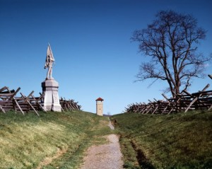 "The Confederates controlled ""Bloody Lane"" until Union troops got a vantage point and picked off Rebs almost at will.  Between the sides, 5,000 men died or were wounded in three hours of hell.  (Carol M. Highsmith)"