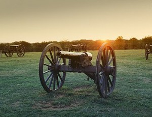 A lone cannon at Manassas Battlefield today recalls a much greater concentration at the TWO battles along Bull Run.  (Carol M. Highsmith)