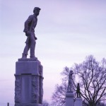 Statues of ordinary soldiers line the paths at Antietam Battlefield.  (Carol M. Highsmith)