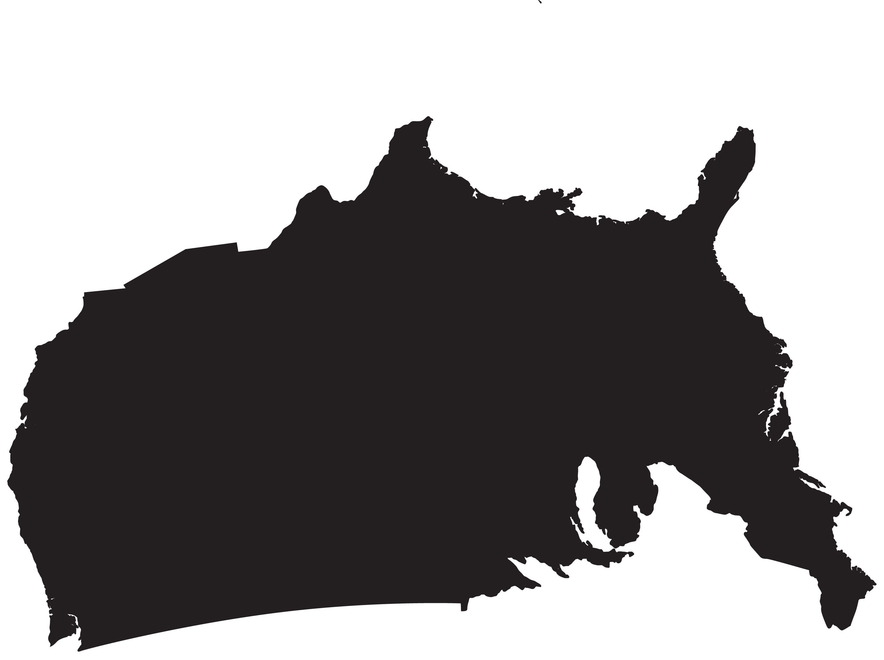 Q. 4 This is an upside-down map of MOST of what country?