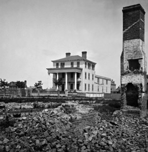 Like Atlanta before it, Charleston, South Carolina was reduced to rubble by Yankee artillery.  (Library of Congress)
