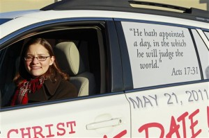 Allison Warden believed that the rapture was at hand, and even traveled about to spread the message.  (AP Photo/Gerry Broome)