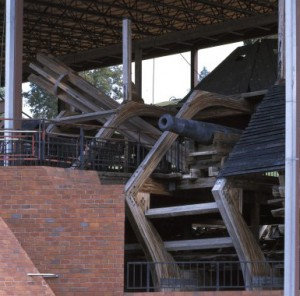 At Vicksburg National Military Park today, you can get a close-up view of siege guns that once pounded Vicksburg from the USS Cairo, anchored in the Mississippi River below.  (Carol M. Highsmith)