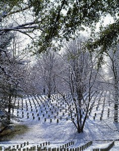 Each day, an average of 15 burials with full military honors take place at Arlington National Cemetery.  (Carol M. Highsmith)