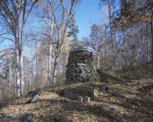 "A remnant of ""Catherine's Furnace,"" a Confederate ironmaking facility that became the site of heavy fighting at Chancellorsville.  Union troops burned the place to the ground during the subsequent ""Wilderness"" campaign.  (Carol M. Highsmith)"