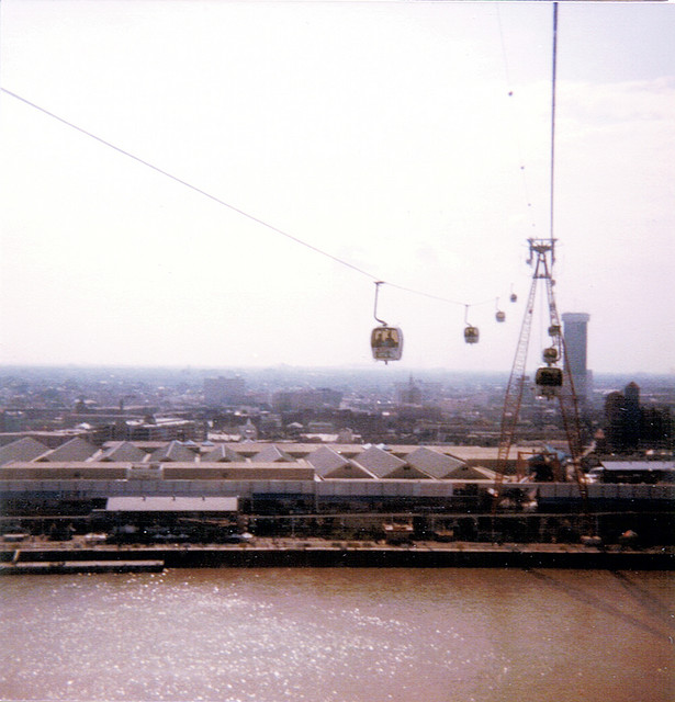 I remember taking this gondola ride over the Mississippi River from and back to the Louisiana World Expo site in 1984 many times.  (ExpoMuseum.com)