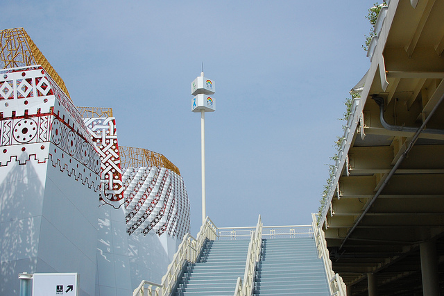 A stairway to international exploration at the 2010 world expo in Shanghai.  (peruisay, Flickr Creative Commons)
