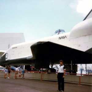 "Urso Chappell had already caught the ""fair bug"" by the time he checked out the U.S. space shuttle at the '84 Louisiana World Expo.  (ExpoMuseum.com)"