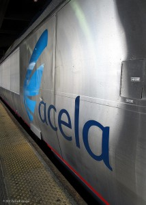 Acela's logo was clean and catchy.  (SP8254 - Catching Up, Flickr Creative Commons)