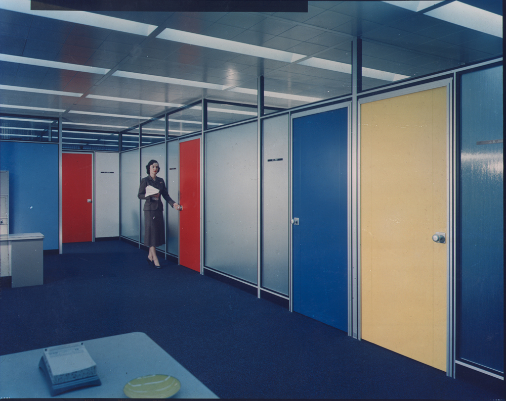 A different sort of employee quarters at Inland Steel's Chicago headquarters.   (National Building Museum, courtesy Chicago Historical Society; photo by Bill Engdahl for Hedrich Blessing)