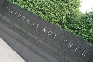 """The Korean War Veterans Memorial honors those who died in what is sometimes called """"The Forgotten War"""" because it was sandwiched between World War II and the War in Vietnam.  (jepoirrier, Flickr Creative Commons)"""