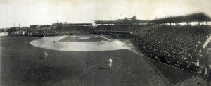 There were not yet radio accounts of the action when this Chicago White Sox game was played in 1912.  (Library of Congress)