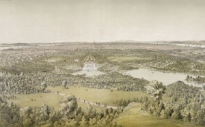 The area that became Central Park in 1860, three years into the park's creation.  (Library of Congress)
