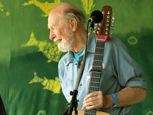 Pete Seeger is still going and, for his age, going strong.  (Anthony Pepitone, Wikipedia Commons)
