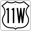 I could never tell by looking at their squiggly routes on a map which was shorter: 11W or 11E.  (U.S. Highway Administration)