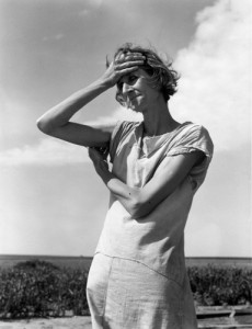 Renowned Farm Security Administration photographer Dorothea Lange captured the despair of this woman who watched her farm blow away in Childress, Texas.  (Farm Security Administration)