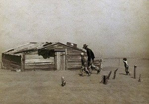 Dust Bowl days on the Plains.  (Library of Congress)
