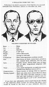 It wouldn't be long before people around the world knew what Dan Cooper looked like.  (FBI)