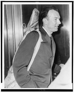 Hauled before Congress in 1961, Pete Seeger took along his trusty banjo.  (Library of Congress)