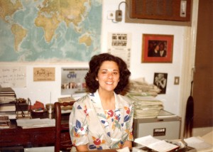 Shown here soon after she'd been named CNN bureau chief in Cairo in 1984, Jane looks confident and content.  (courtesy, Jane Friedman)