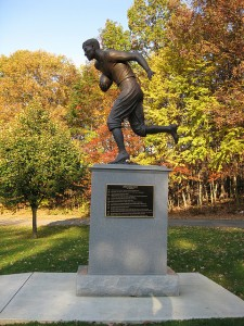 Jim Thorpe, memorialized in the town that bears his name.  (dougtone, Flickr Creative Commons)