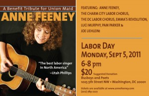 The Labor Movement has rallied behind Anne Feeney, who is battling cancer.  (annefeeney.com)
