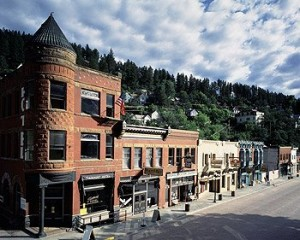 This little town looks prosperous, and it is.  But that's because Deadwood, South Dakota, has money to spend that its gambling casinos brought in.  (Carol M. Highsmith)