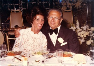 "Jane's parents, Helene and Willy — Willem had Americanized his name — at the wedding of Jane's brother in 1972.  ""It was a big diamond industry affair,"" Jane notes.  (courtesy, Jane Friedman)"