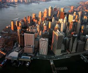Lower Manhattan today: still impressive, but missing something special.  (nosha, Wikipedia Commons)