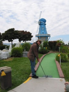 Another putt, another dratted windmill!  (vomsorb, Flickr Creative Commons)