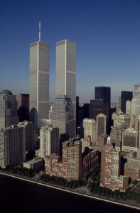 New Yorkers grew to embrace their twin monoliths.  (Carol M. Highsmith)