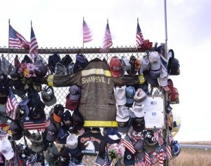 The same sort of outpouring of grief mixed with appreciation and determination materialized in a Pennsylvania field near the spot where the terrorist-hijacked United Flight 93 crashed on 9/11. (Carol M. Highsmith)