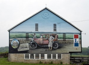 Folks along old U.S. 30 have outdone themselves with creative artwork.  (Carol M. Highsmith)