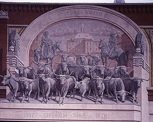 There's a Chisholm Trail sculpture right in downtown Fort Worth.  (Carol M. Highsmith)