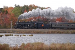 "One of the most engaging attractions along U.S. 11 is ""Steamtown"" in Scranton, Pennsylvania.  Chock fullof old steam-train exhibits, it's a train lover's delight.  (National Park Service)"
