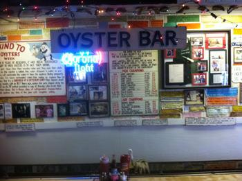 The oyster bar area, set apart from the main dining room, today.   (Wintzell's)