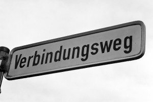 "This is one of the SHORTER German words.  It means ""Connecting Road.""  (riverofgod, Flickr Creative Commons)"