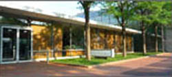 Eero Saarinen's 1954 bank building in Columbus.  (Columbus, Indiana, Convention and Visitors Bureau)