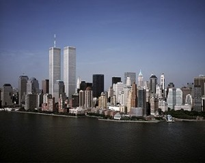 The World Trade Center's Twin Towers, about a month before terrorists brought them down.  (Carol M. Highsmith)